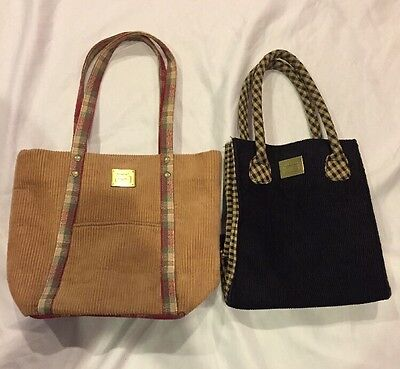 Longaberger Homestead Collection Lot Of 2 Purses/Lunch Bags/Totes