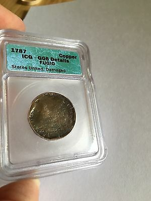 1787 Fugio Cent - ICG Certified -  G06 Details