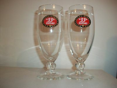 2- ''33'' Export- French-0,25L Beer Glasses