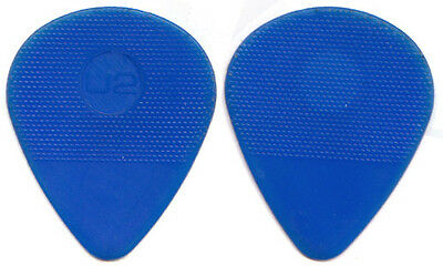 U2 Tour Guitar Pick : The Edge blue molded embossed