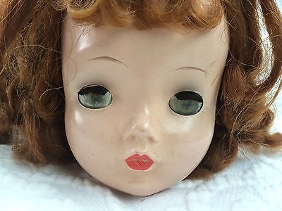 "1950s Vintage Madame Alexander 20"" CISSY Doll Parts Head Red Hair Wig"