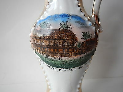 antique, small ewer or pitcher: Valley House, Barton Landing Vermont