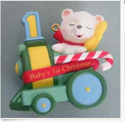 Hallmark Keepsake Baby's 1st 2nd 3rd Christmas Ornaments Child's Age Collection