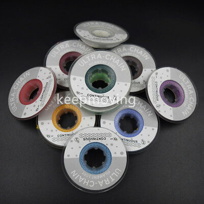 10 Rolls Short Size Dental Orthodontic Elastic Power Chain Ultra Chain 44 Colors