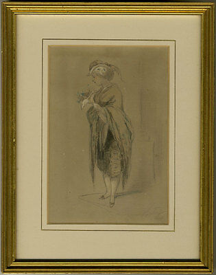 Antony - Late 19th Century Graphite Drawing, Study of a Young Girl