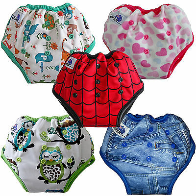 Pull Up Training Pants Nappy Underwear waterproof bamboo washable adjustable