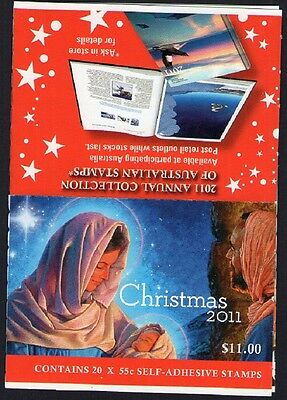 2011 CHRISTMAS AUSTRALIAN STAMP BOOKLET (MOTHER & CHILD) 20 x 55c STAMPS MUH