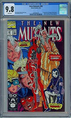NEW MUTANTS #98 - CGC 9.8 White Pages - NM/MT First DEADPOOL