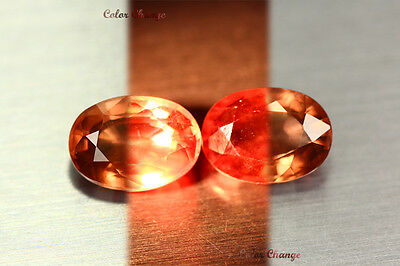 4.110 Ct Rare Natural From Earth Mined *color Change Malaya Garnet* Aaa+ Pair !!