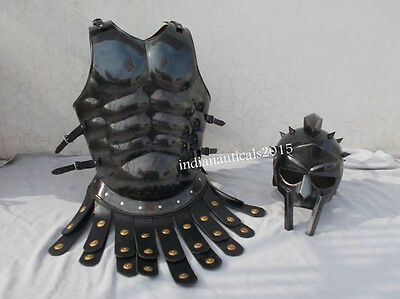 """""""HALLOWEEN COSTUME COLLECTIBLE Muscle Armour GREEK MUSCLE ARMOR WITH 300 HELMET"""