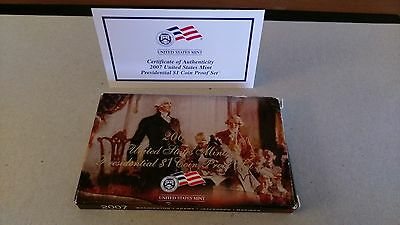 2007 Uncirculated Presidential Dollar PROOF Set