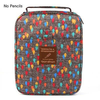 Qianshan Colored Raindrop Printing Large Pencil Case Art Students Pencil Holder