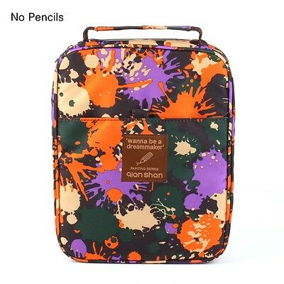 Large Capacity Qianshan Oxford Fabric Handy Deluxe Colored Pencil Case Pen Bag