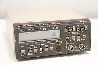 Philips PM 6666 Fluke 120MHz/1.1GHz GPIB IEEE Option Programmable Timer Counter
