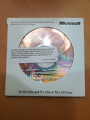Microsoft Office 2003 Professional + Business Contact Manager (Full Version)