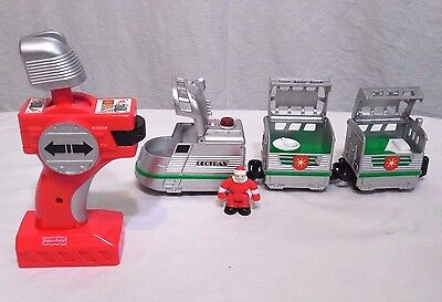 Fisher Price Geotrax Holiday Express The Merriest Train / Remote & Santa Figure