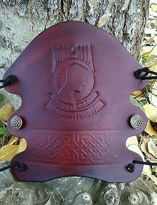 Archery Bracer/ Arm Guard Handcrafted USA, POW/MIA- Celtic knotworkDesign