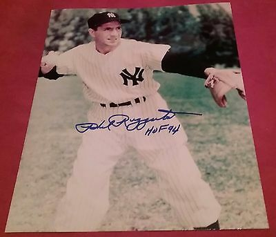 MLB YANKEES HOF PHIL RIZZUTO AUTOGRAPHED SIGNED 8x10 BASEBALL PHOTO COA JSA PSA