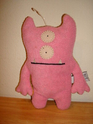 "Uglydoll Ugly Doll Bop N' Beep Pink and Orange Plush 8"" Reversible"