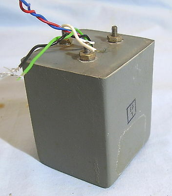 AUDIO COUPLING TRANSFORMER VINTAGE MIL SPEC Turns Ratio 1:1 Tested OK