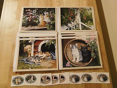 New 8 Cat Kitten Persis Clayton Weirs Note Cards Envelopes & Seals By Bookmark