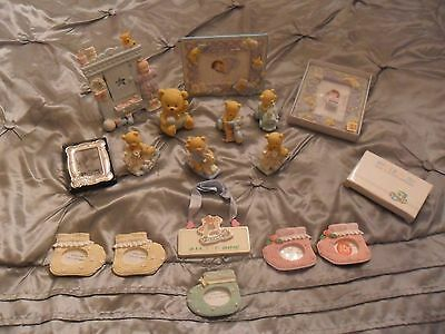 Collection of Nursery Baby Ornaments/Picture Frames & Figures Teddy Bears