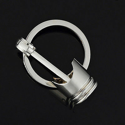 Men's Car Engine Auto Part Metal Piston Model Keychain Keyring Keyfob Gift New