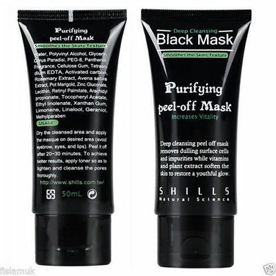 2 x Black Mud Deep Cleansing Peel Off Facial Mask Smooths Skin Blackhead Removal