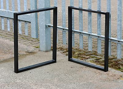 2x Handmade, Bare Box Steel Furniture Table Legs Industrial Chic Style