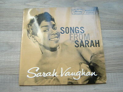 SARAH VAUGHAN jazz7swing45 *RARE UK ONLY EP*blues50s*EX+* Songs From 1958 vaughn