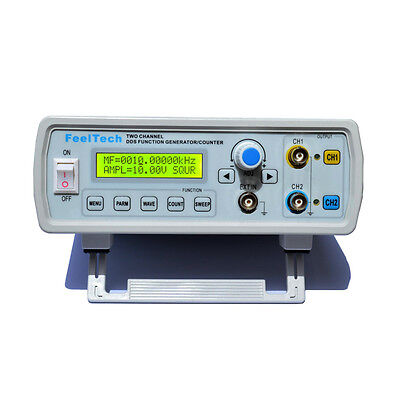 12MHz Dual Channel DDS Function Signal Generator Sine/Square Wave Sweep Counter