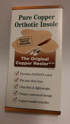 Original Copper Heeler Orthotic Insole (Size 3) For Ladies 8-9 or Mens 6-9