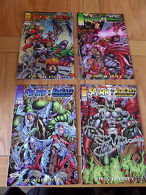 Spawn Wild C.a.t.s Compleat 4 Part Collection.