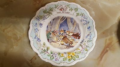 A Pair of Royal Doulton 'Brambly Hedge' Plates~The Dairy & Safe at Last