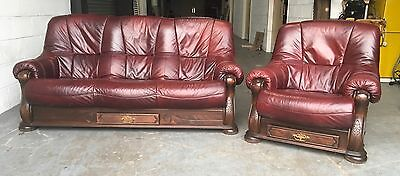 £2000 Italian Leather Chesterfield Sofa Set WE DELIVER UK WIDE