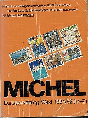 Michel Briefmarken Katalog Europa West 1991/92