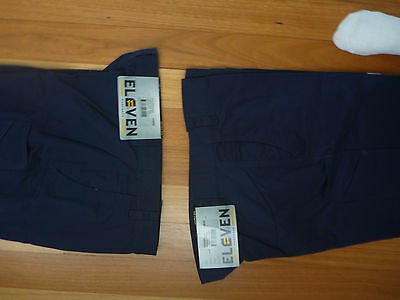 2 Mens Workwear Pants Navy Size 38