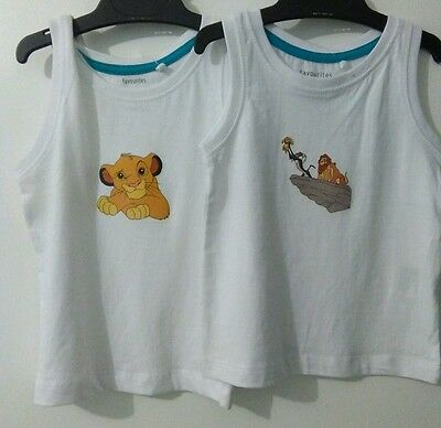 2x Cute lion king top. Baby kids. Great gift . Baby shower.
