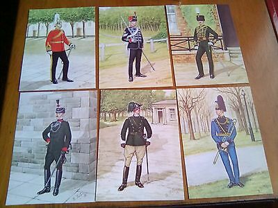 The Royal Yeomanry Set of 6 Bryan Fosten Postcards - Mint 1897 - 1986