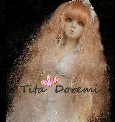 Bjd Doll Wig Hair 1/3 8-9 Dal SD Pullip Blythe Azone DOD LUTS Dollfie Toy Curly