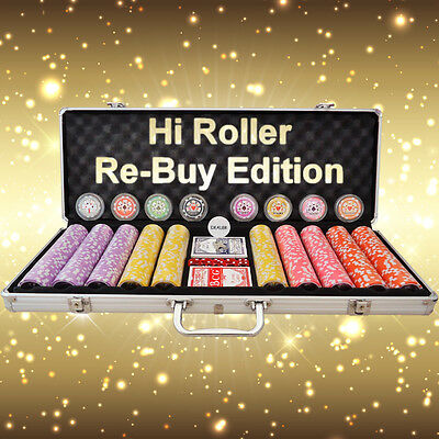 500 Piece Poker Chip Set - Hi Roller Numbered Chips - RE-BUY EDITION