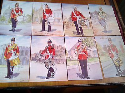 Drummers Past & Present Princess Of Wales Royal Regiment Postcards