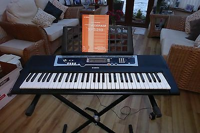 Yamaha Ypt-210 Portable Keyboard With Stand And Instructions