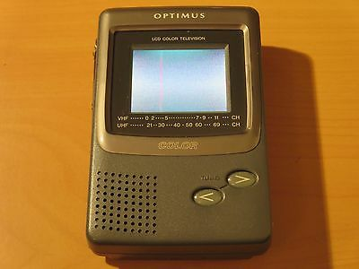 "Optimus Pocketvision 41 Colour Pocket Portable LCD Television TV 5.6cm (2.2"")"