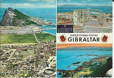 """Postcard - """"Greetings from Gibraltar"""" - posted (1970?)"""