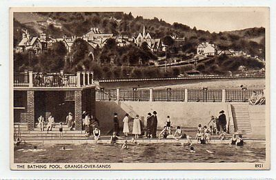 """""postcard The Bathing Pool,grange Over Sands,cumbria"""""