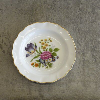 Duchess Bone China England Pin Dish or Small Plate 12cm wide Floral Bouquet