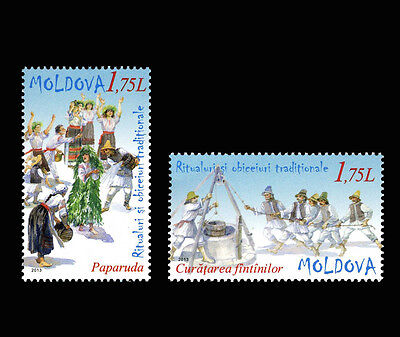 "Moldova 2013 ""Traditional Rituals and Customs"" 2 MNH stamps"
