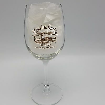 Maurice Carrie Winery Wine Glass Temecula CA Wine Tasting Souvenir Car'rie