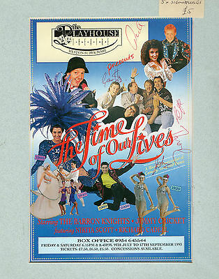 Barron Knights Autographed Mounted Theatre Flyer